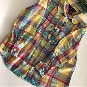 Ralph Lauren Girls Plaid Shirt size 6